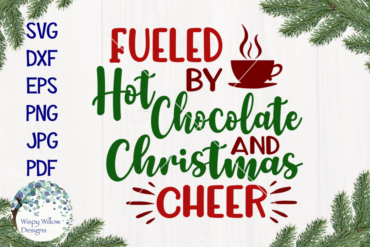 Fueled By Christmas Cheer | Christmas SVG Bundle example image 7