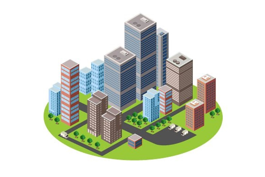 A business isometric city downtown example image 2