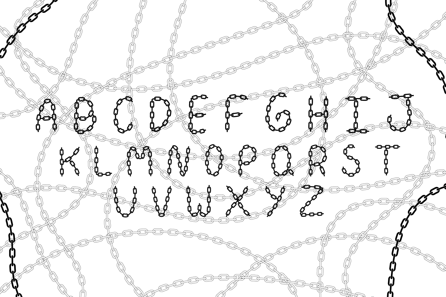 Chain Font example image 2