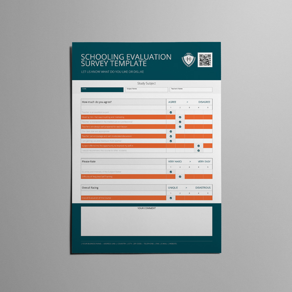 Schooling Evaluation Survey Template example image 5