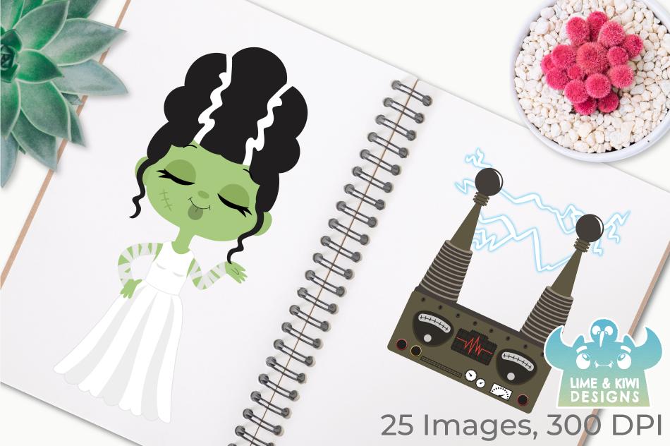 Bride of Frankenstein Clipart, Instant Download Vector Art example image 3