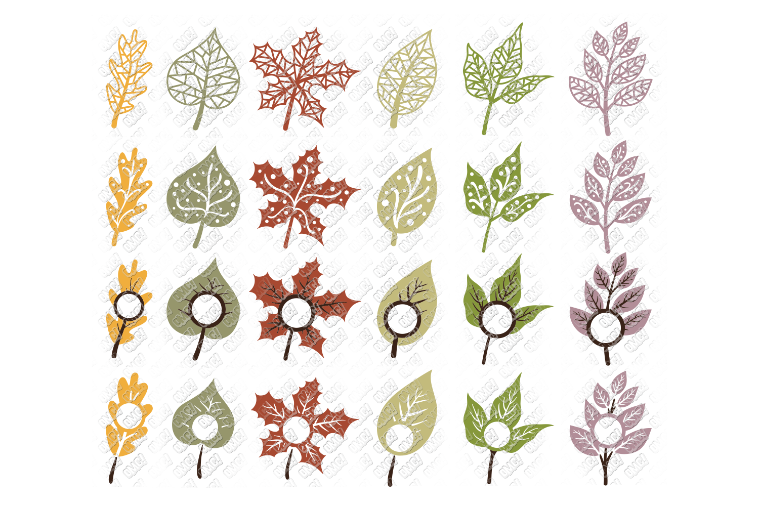 Leaf SVG Fall Leaves Autumn in SVG, DXF, PNG, EPS, JPEG example image 3