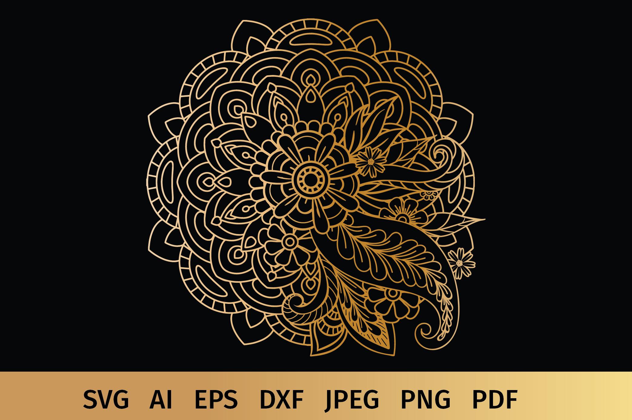 Floral Mandala SVG example image 2