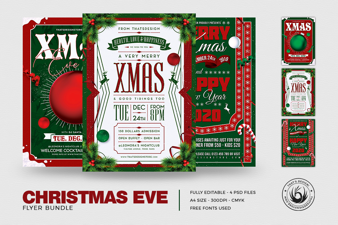 Christmas Eve Flyer Bundle example image 2