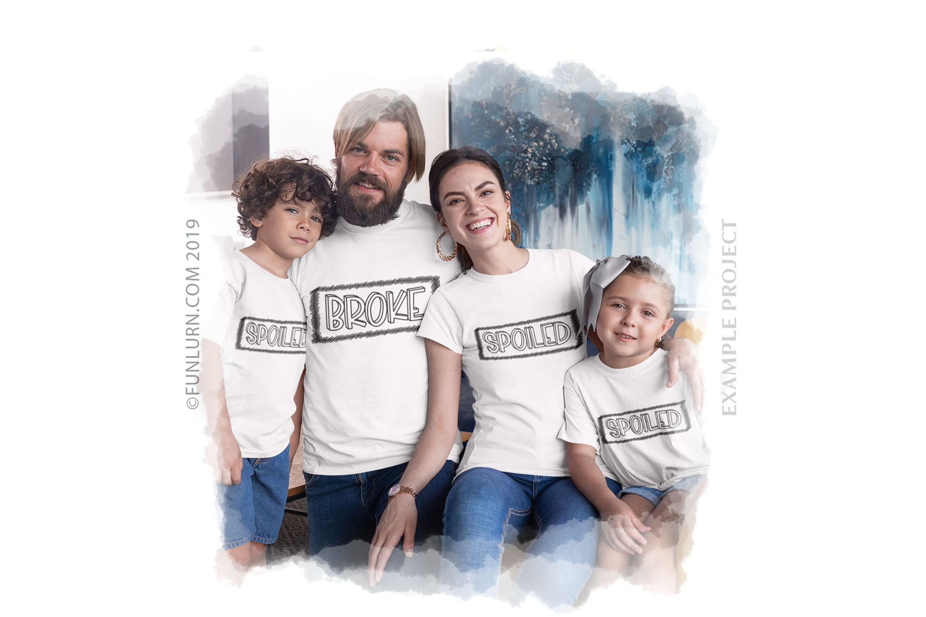 Broke Spoiled Family Set SVG Cut File example image 3