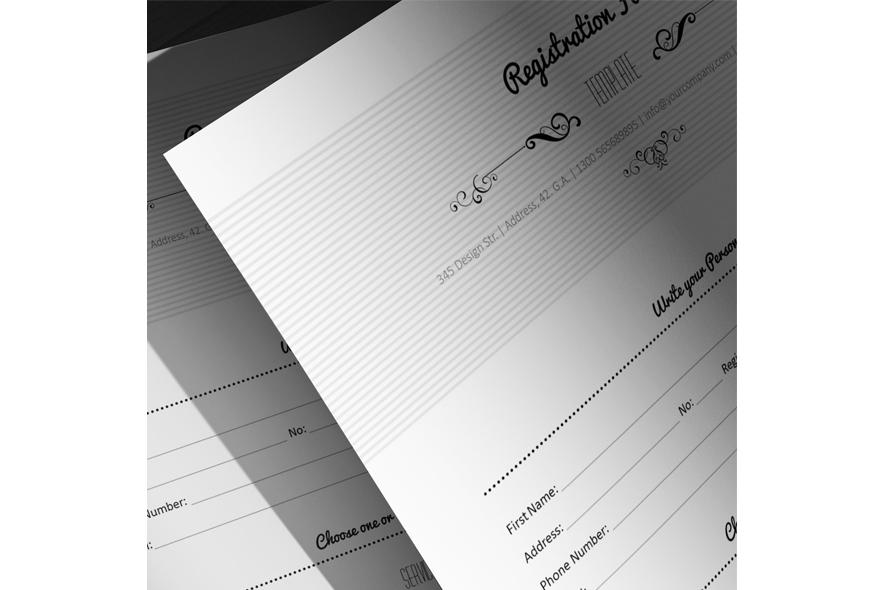 Registration Form Template v5 example image 5