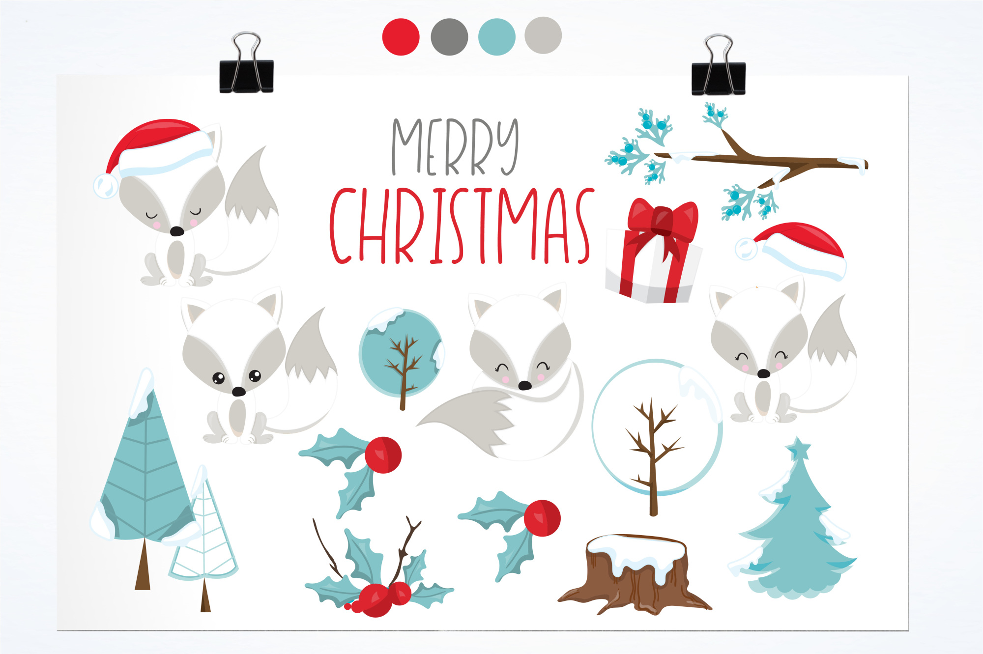 Winterland Fox graphics and illustrations example image 2