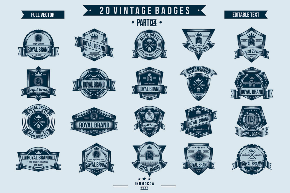 BIG BUNDLE Vintage Badges example image 17