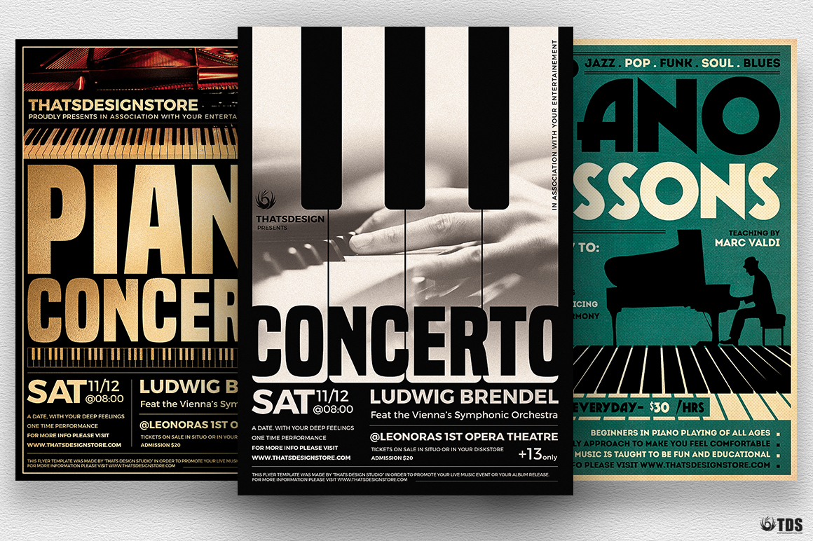 Special Pianist Flyer Bundle example image 2