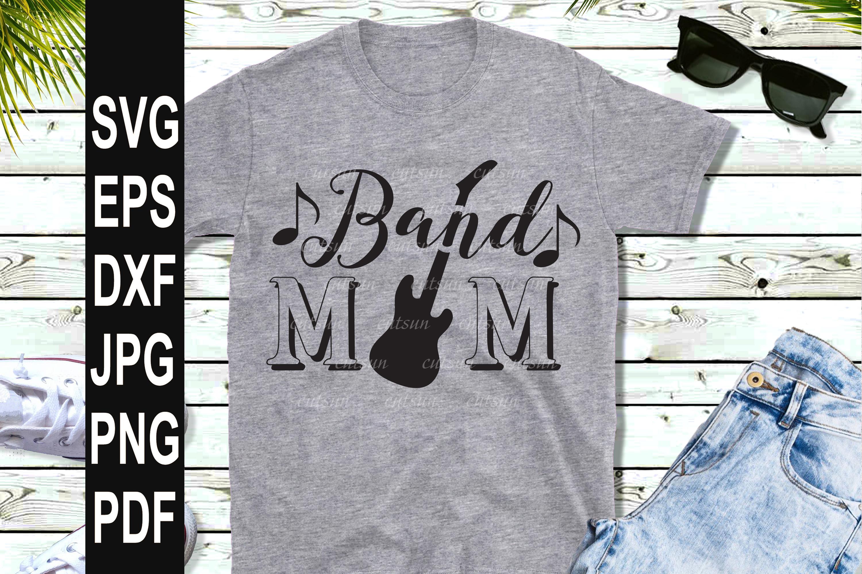 Band Mom SVG   Band Mom Guitar SVG example image 2