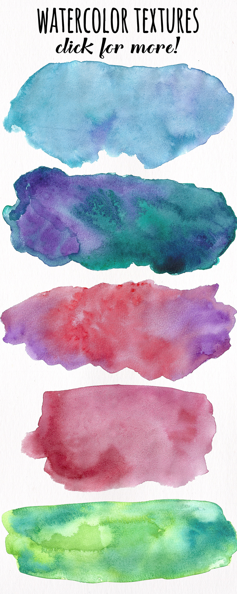 Watercolor Textures - card edition example image 13