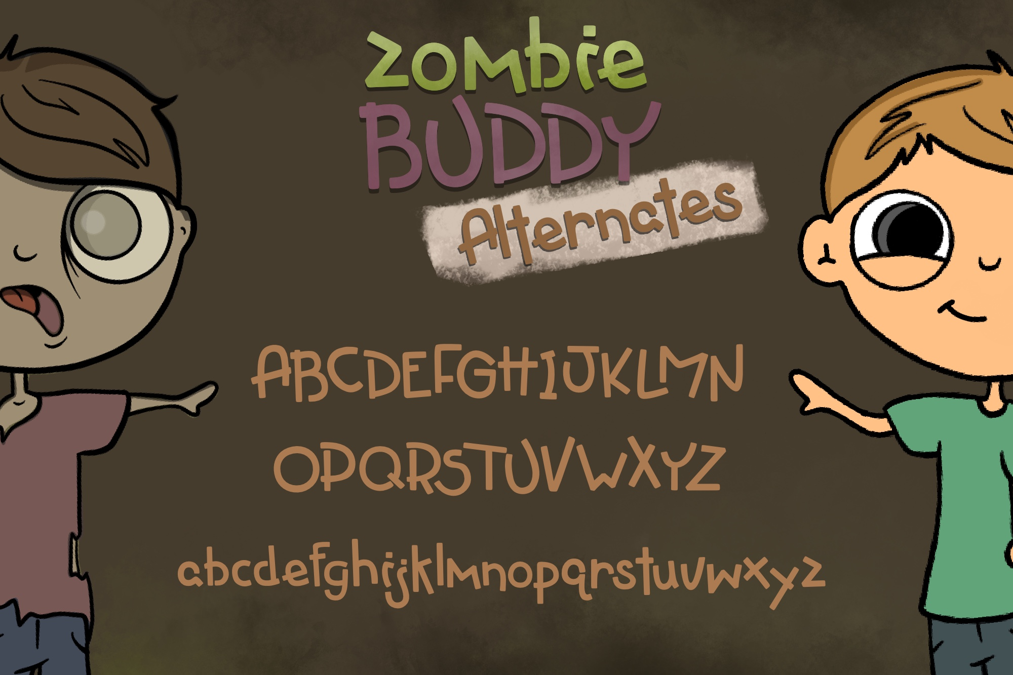 Zombie Buddy| An Apocalyptic Alternate Duo Font example image 3