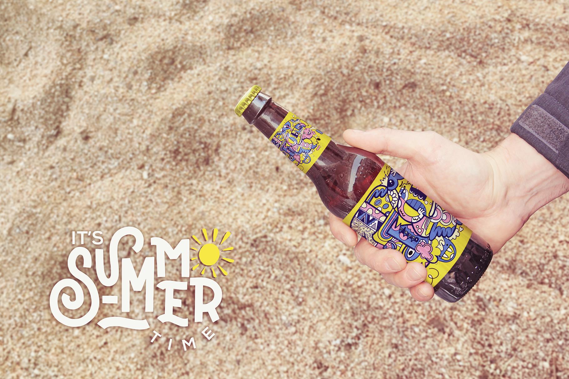 Get Beer Bottle Mockup example image 4