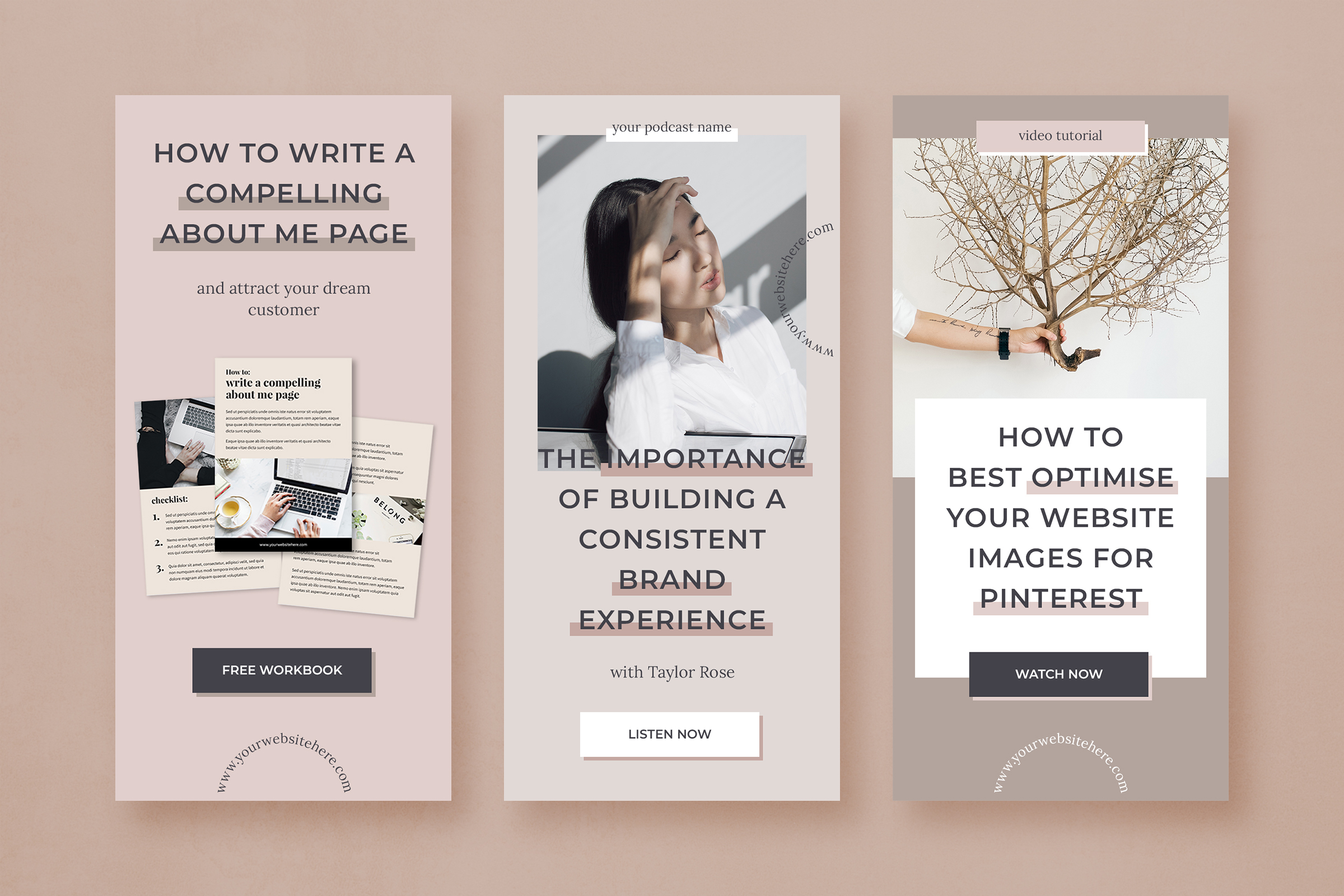 Pinterest marketing graphics template pack example image 6