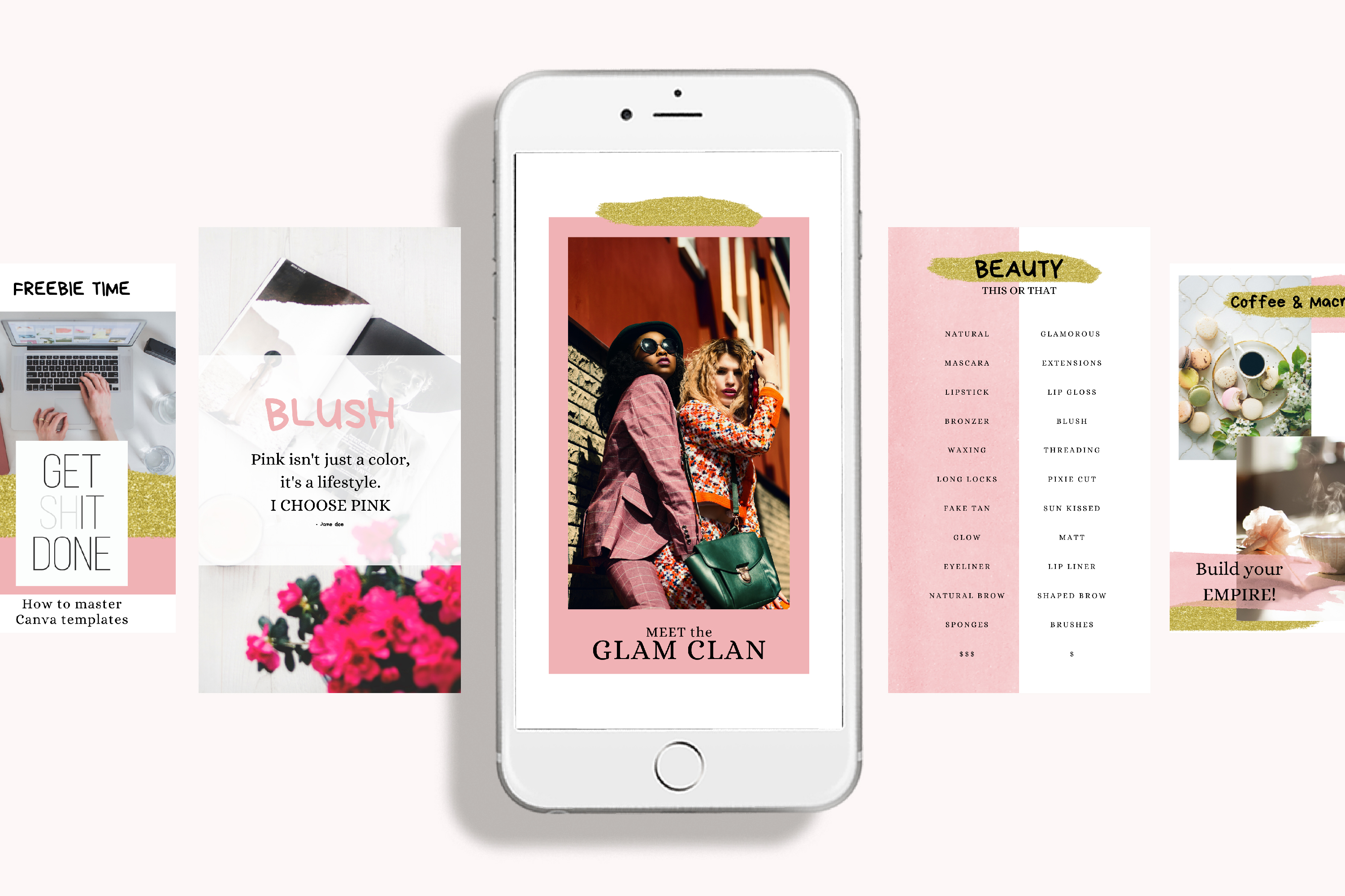 Instagram Story Canva Template - Blush example image 2