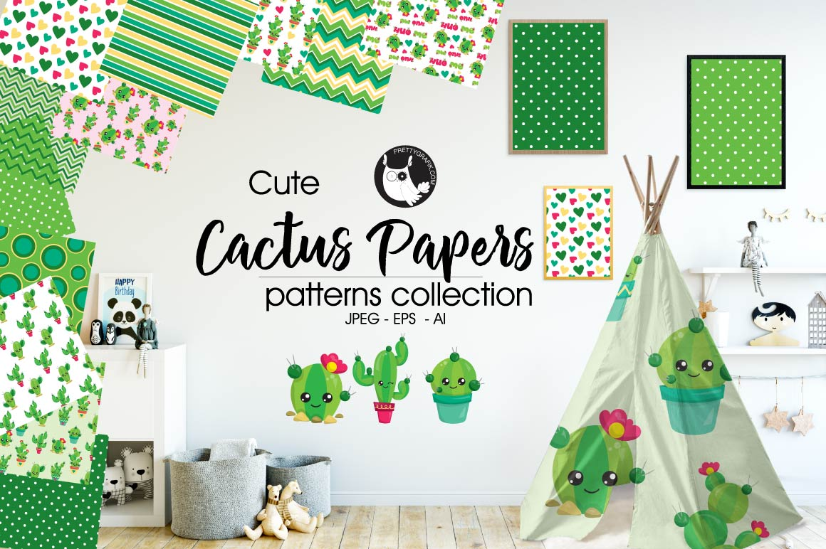 CACTUS-PAPERS , digital papers example image 1
