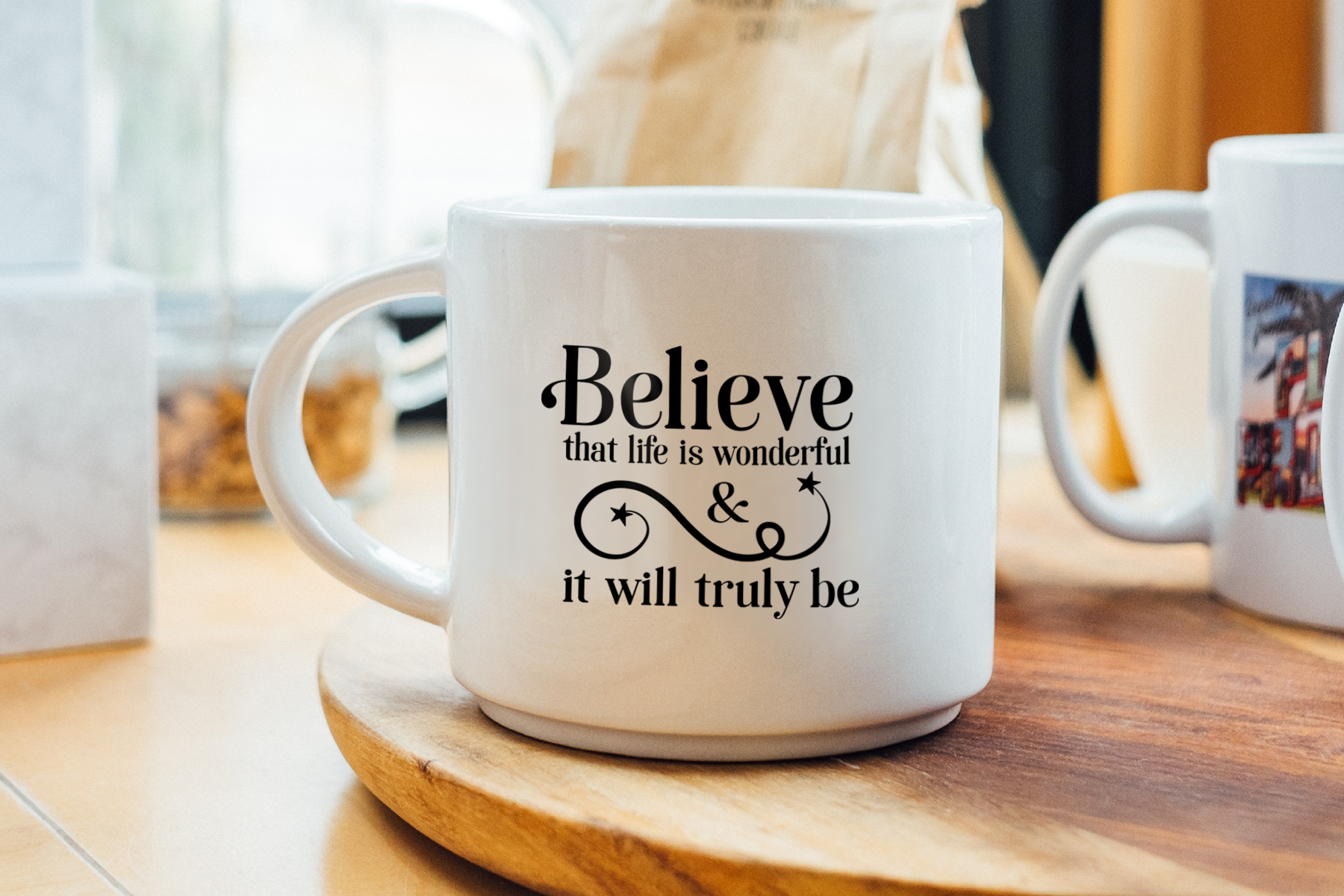 Believe that Life is Wonderful, An Inspirational Life SVG example image 2
