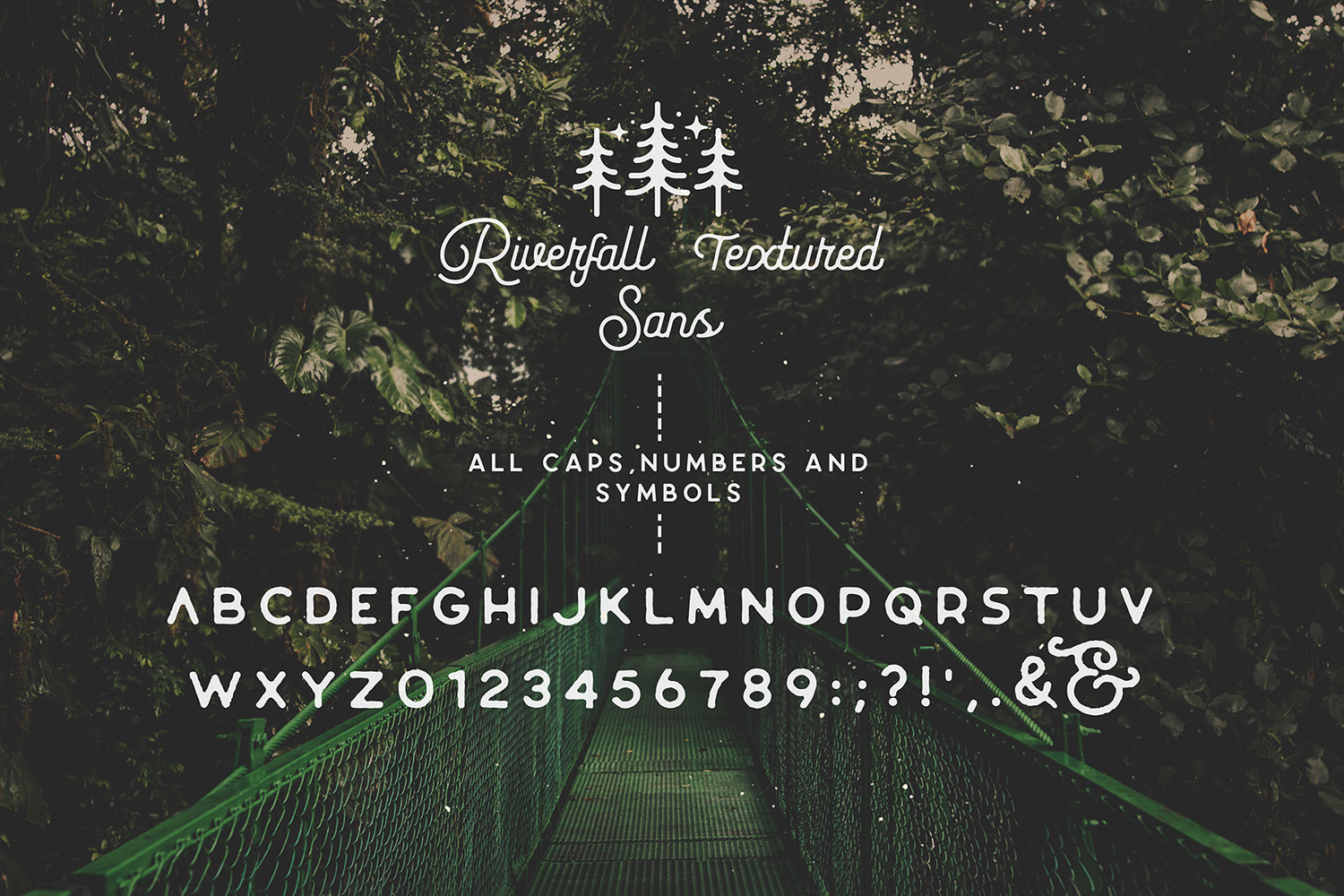 Riverfall Semi Rounded Textured Typeface Ver.2 example image 12