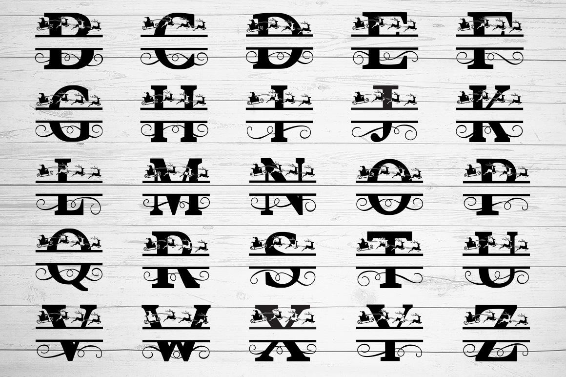 Christmas Alphabet Monogram SVG's example image 2