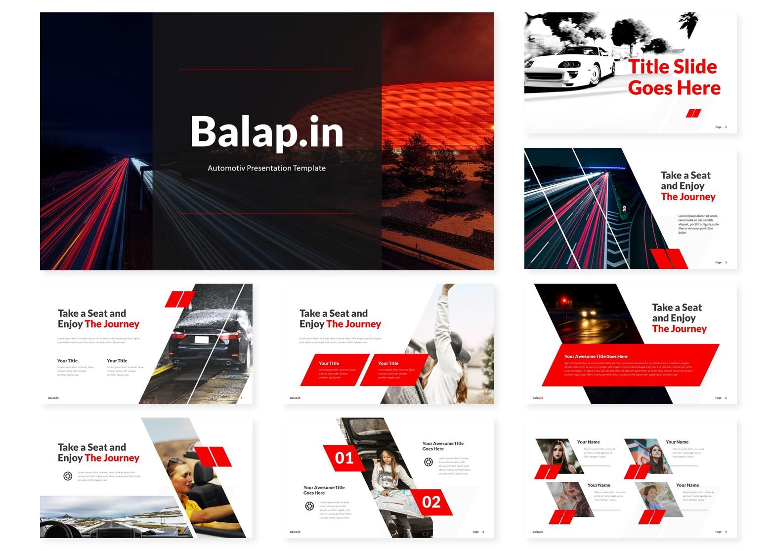 Balapin | Powerpoint, Keynote, GoogleSlides Template example image 4