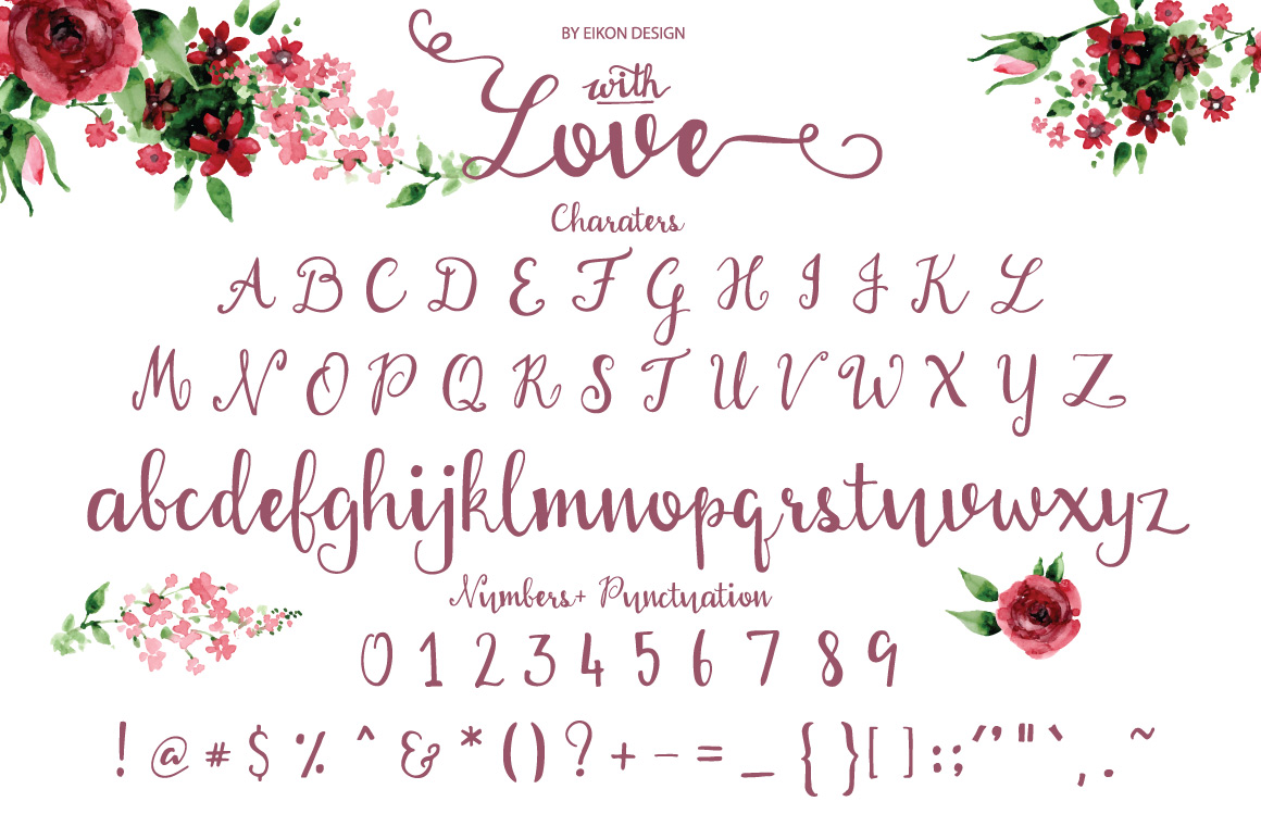 With love Handwritten font example image 2