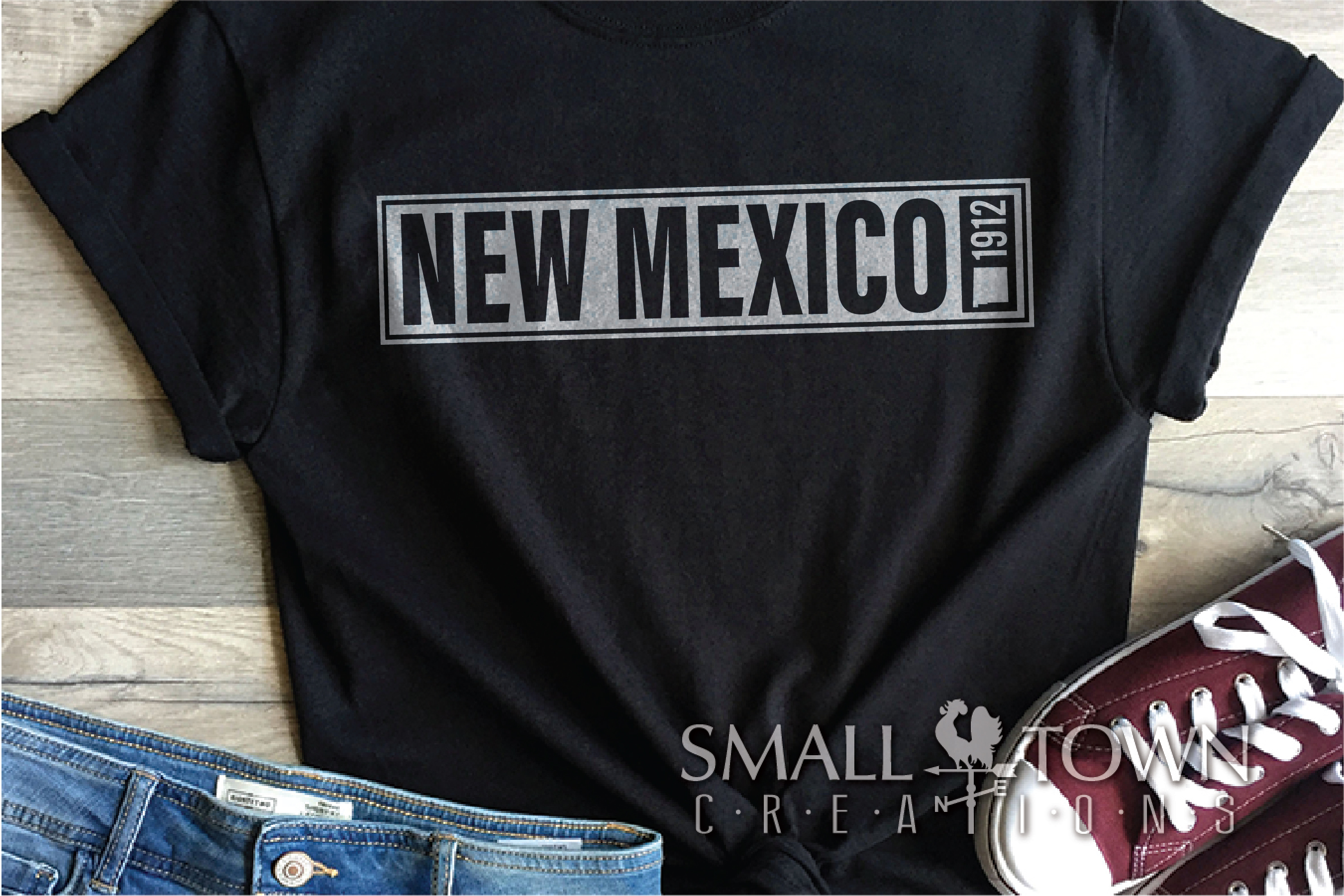 New Mexico, Sunshine State - slogan, PRINT, CUT & DESIGN example image 4
