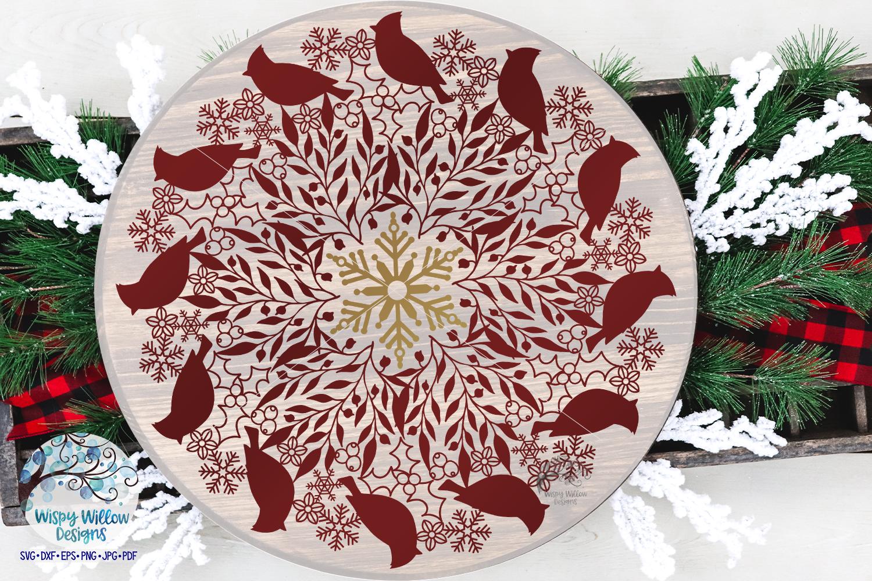 Winter Mandala SVG Bundle | Christmas Mandala SVG Cut Files example image 9