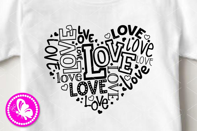 Love svg Heart sign Valentines decor Girls Valentine Cricut example image 1