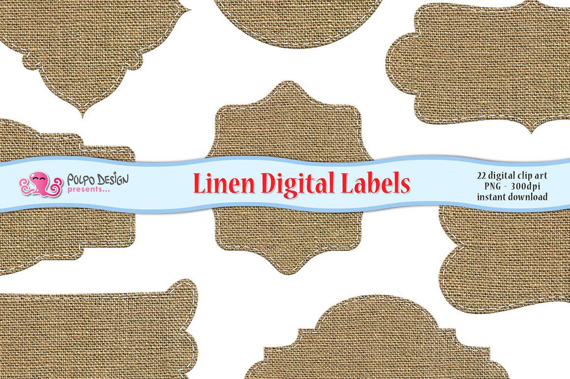 Linen Digital Labels example image 1