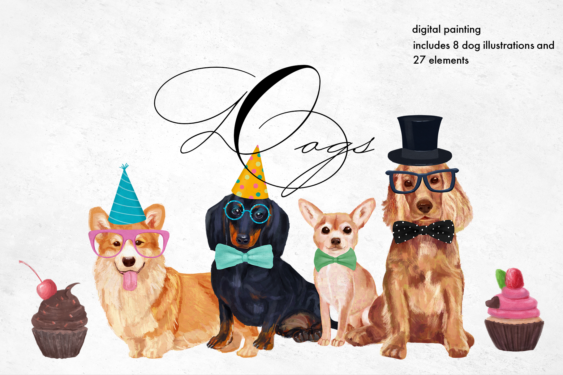 Dog breeds Illustrations example image 1