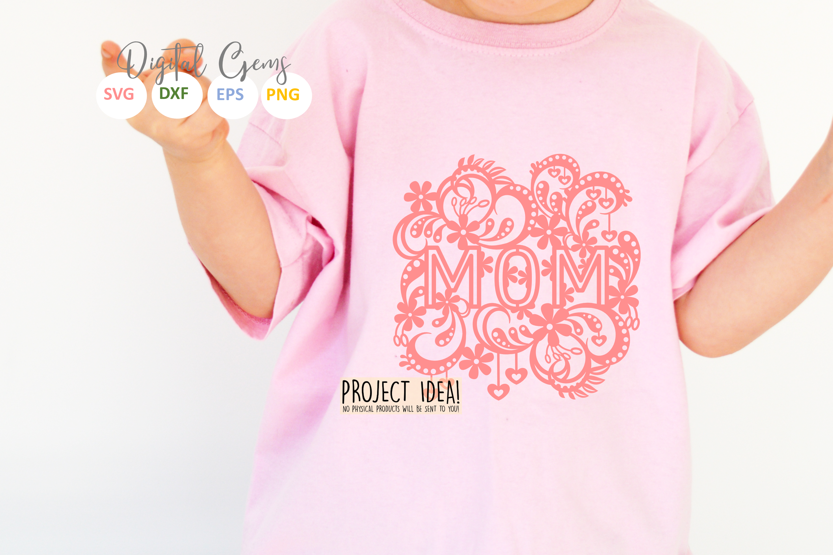 Mom paper cut design SVG / DXF / EPS files example image 2
