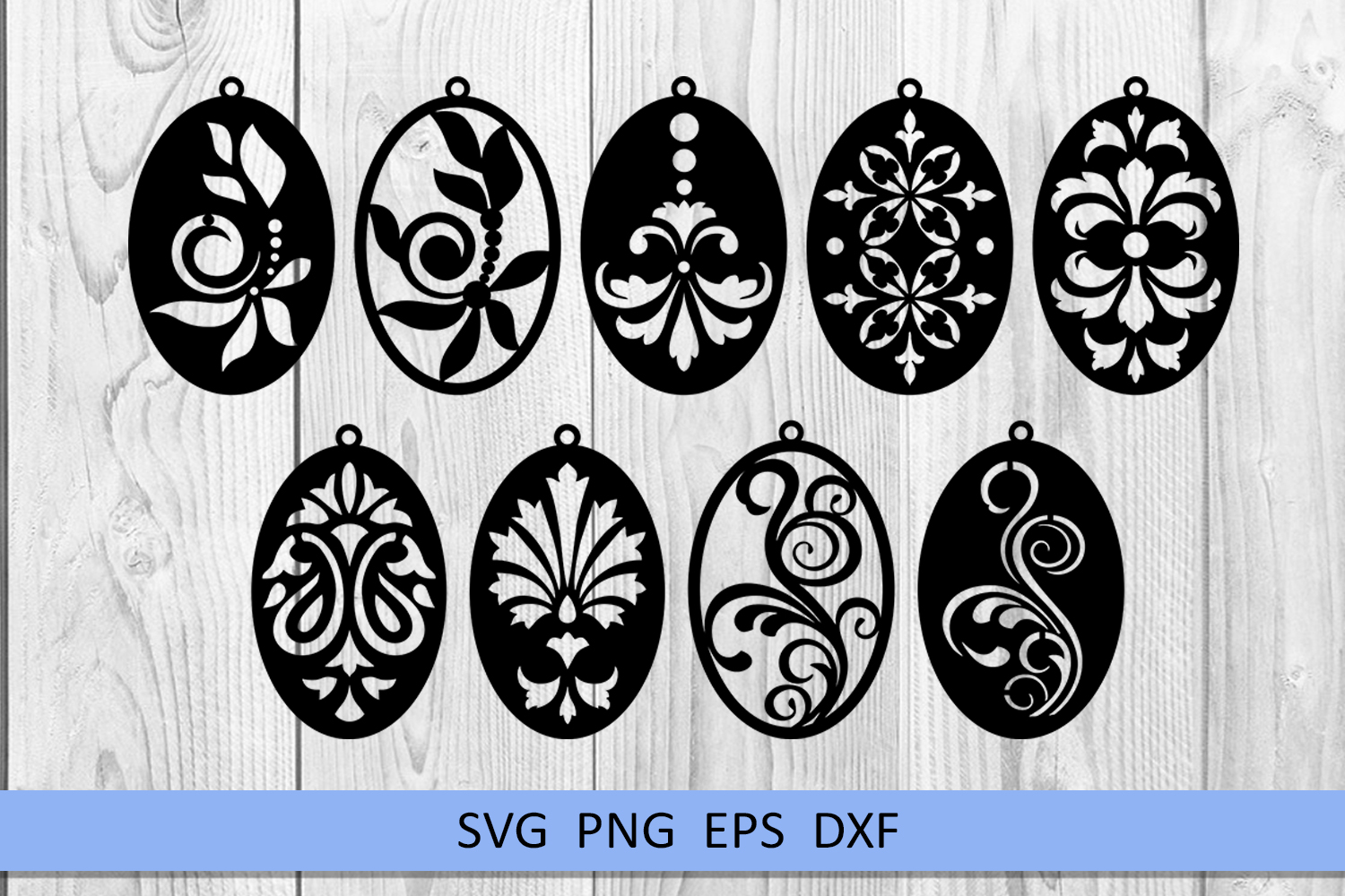 9 Damask earrings svg Leather earrings svg Necklace svg example image 6