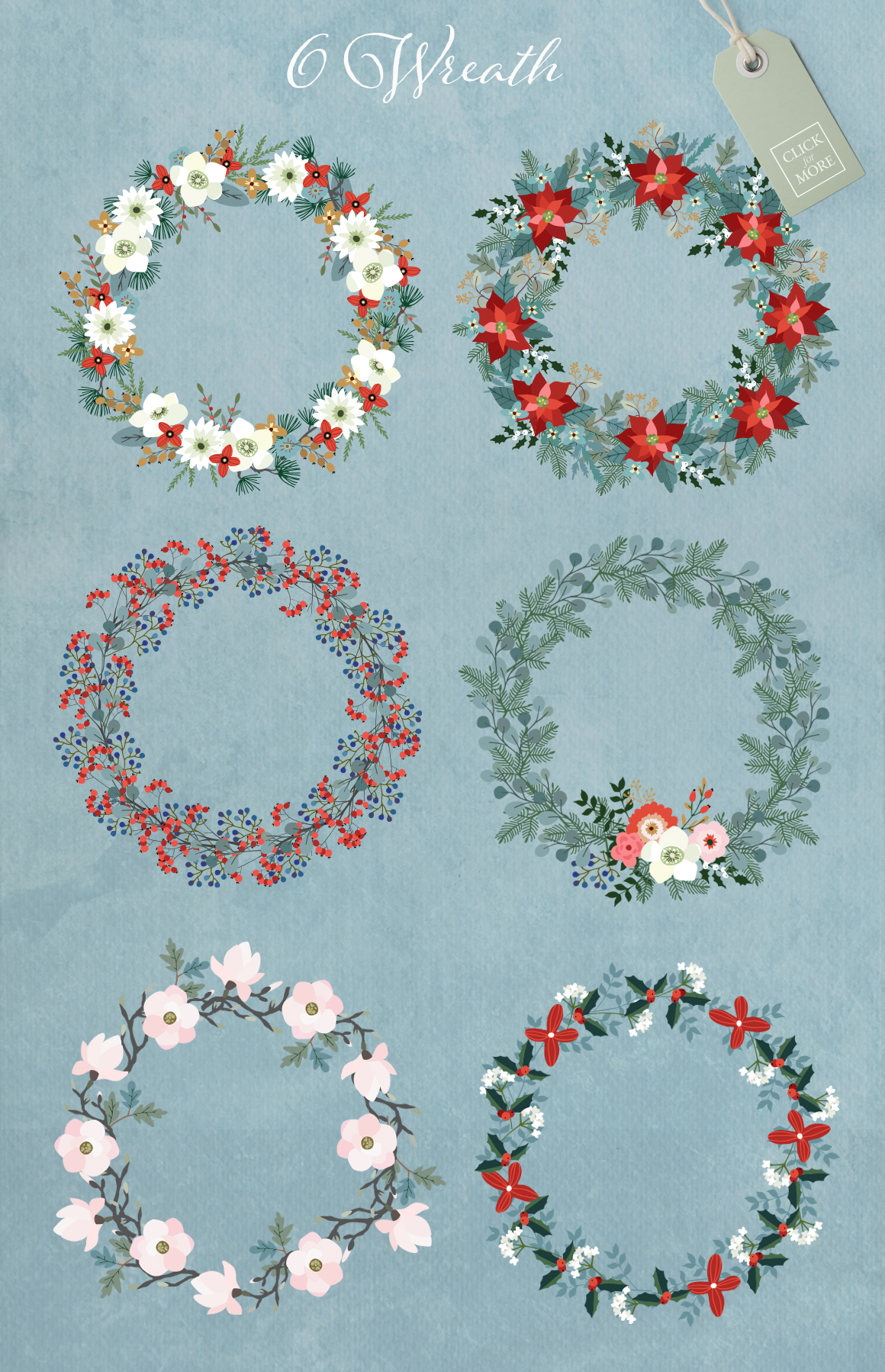 Merry Christmas set, 166 elements example image 6
