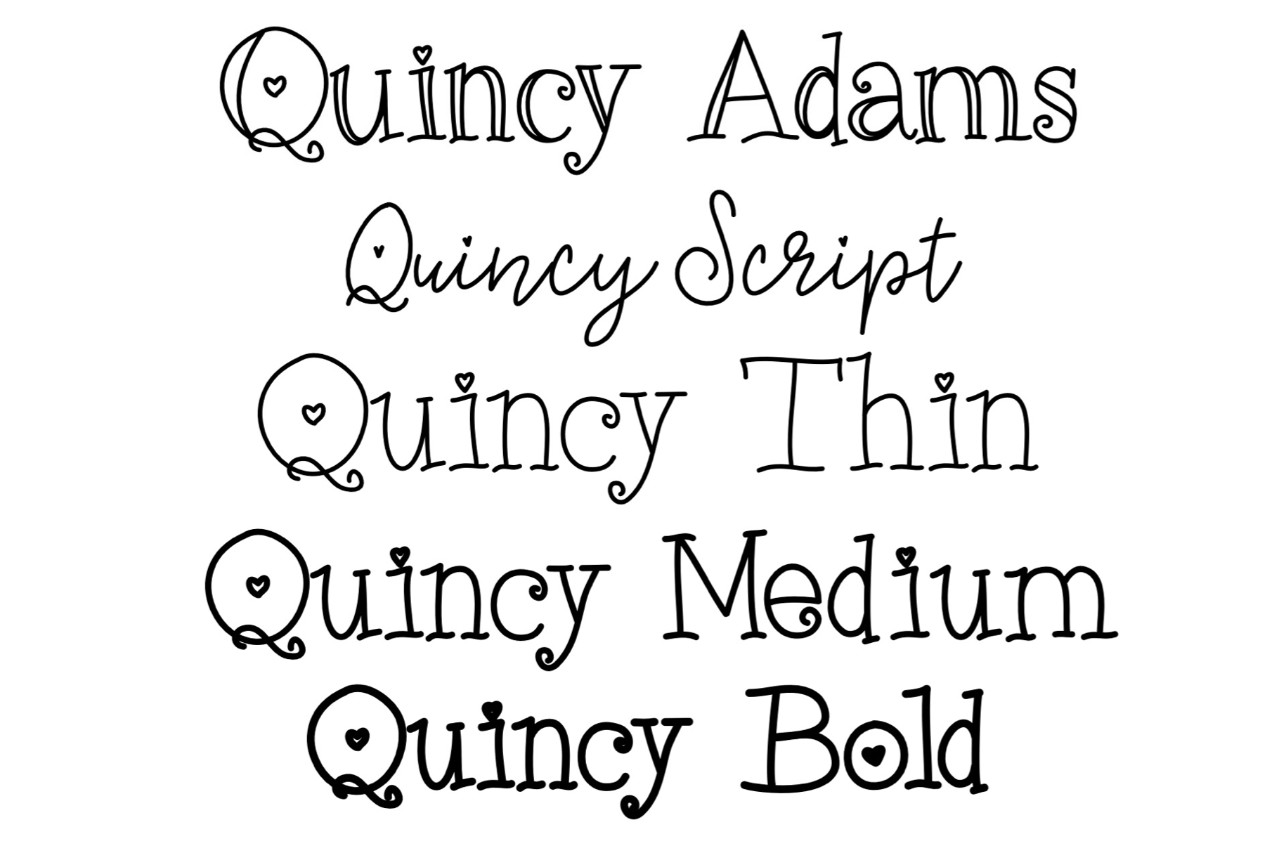 Quincy Adams - A Sweet Hand Written Font example image 4