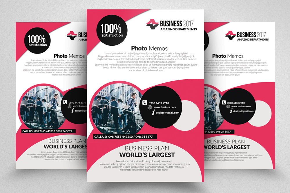 10 Corporate Psd Flyer Templates Bundle example image 4