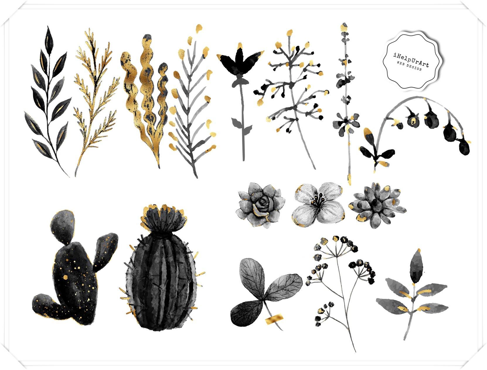 Herbarium Clipart example image 2