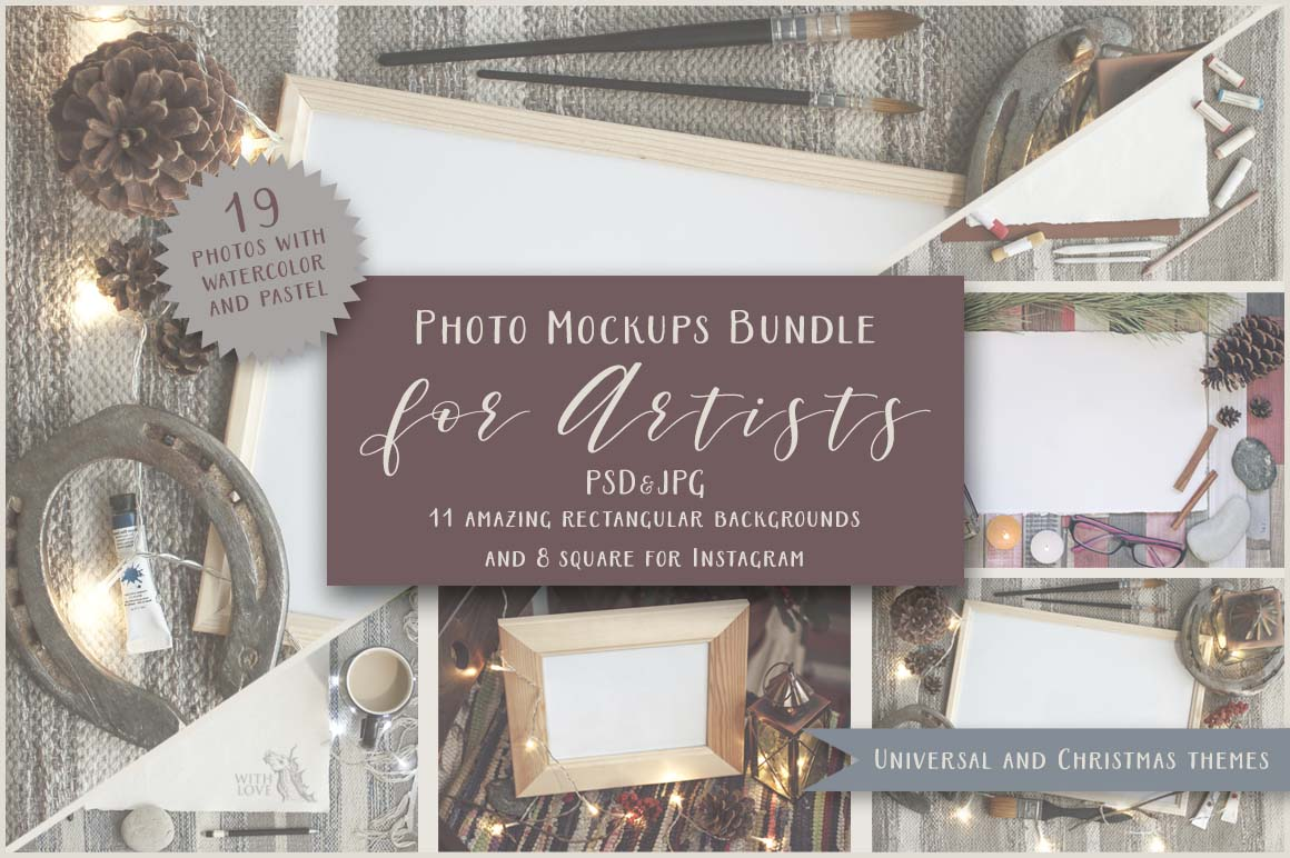 Artists Photo Mockups Bundle example image 1
