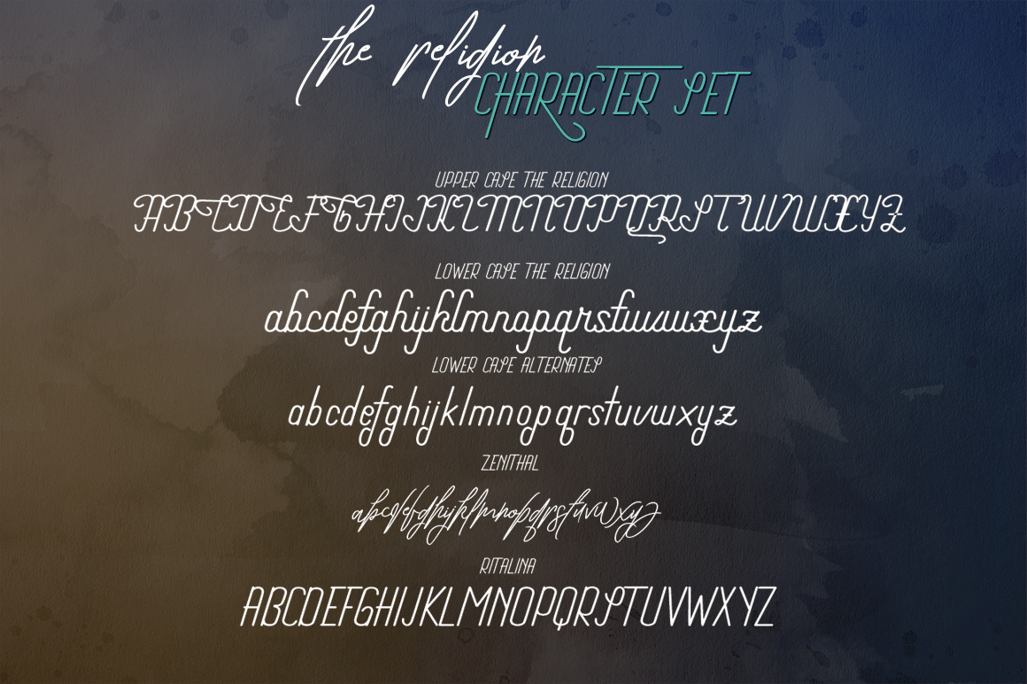 The Religion Trio Font example image 12