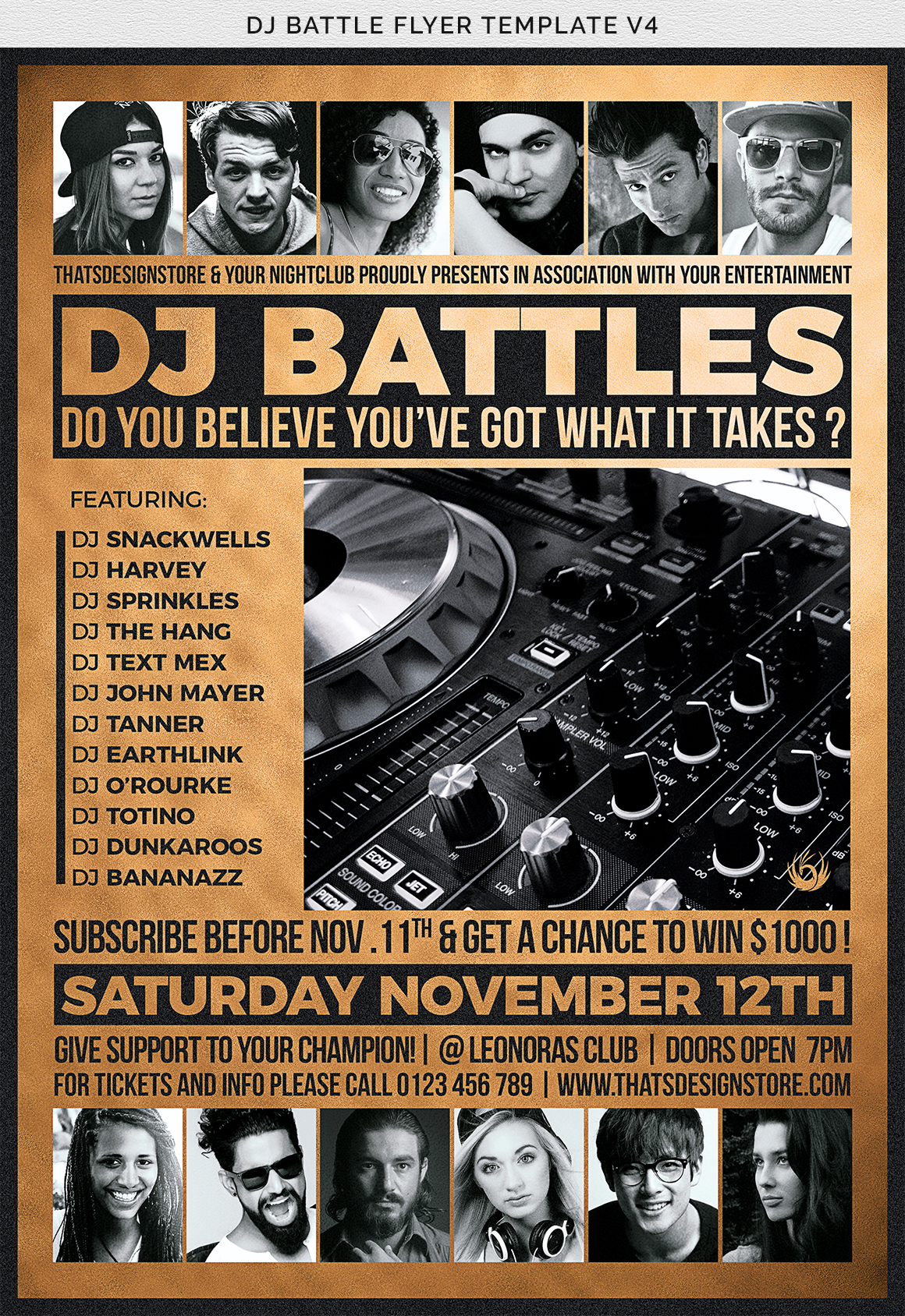DJ Battle Flyer Template V4 example image 11