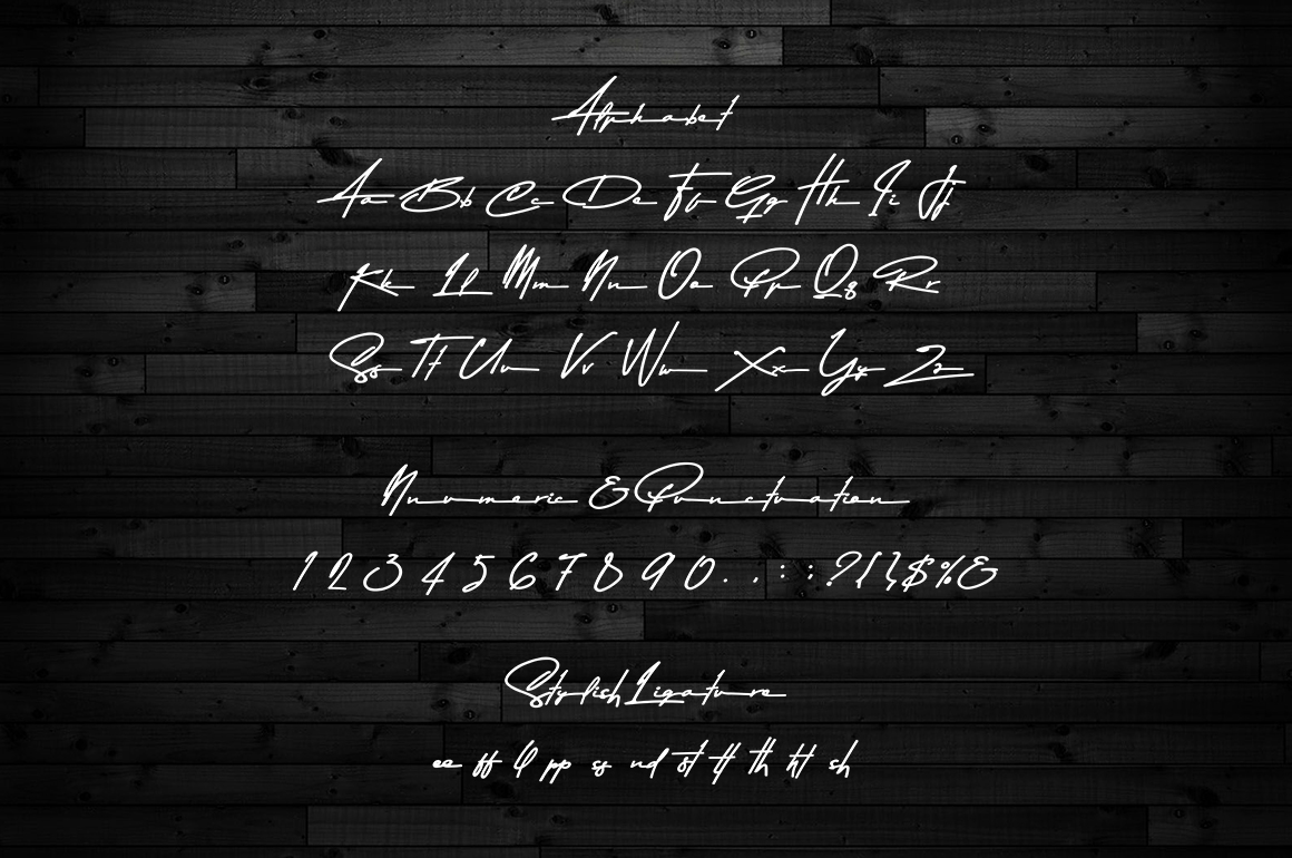 Asem Kandis - A Signature Font example image 5