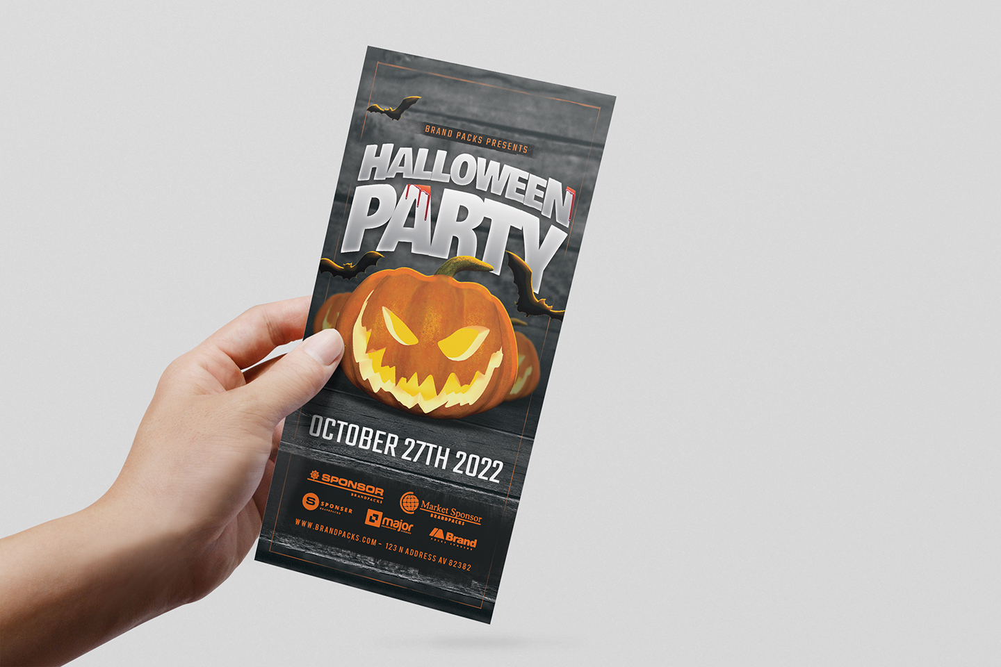 Halloween Party Flyer Template example image 8