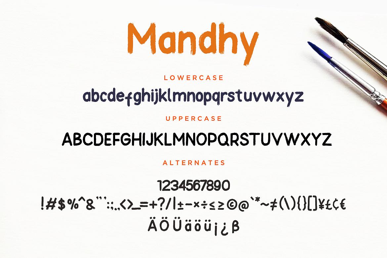Mandhy Brush Series Sans example image 7