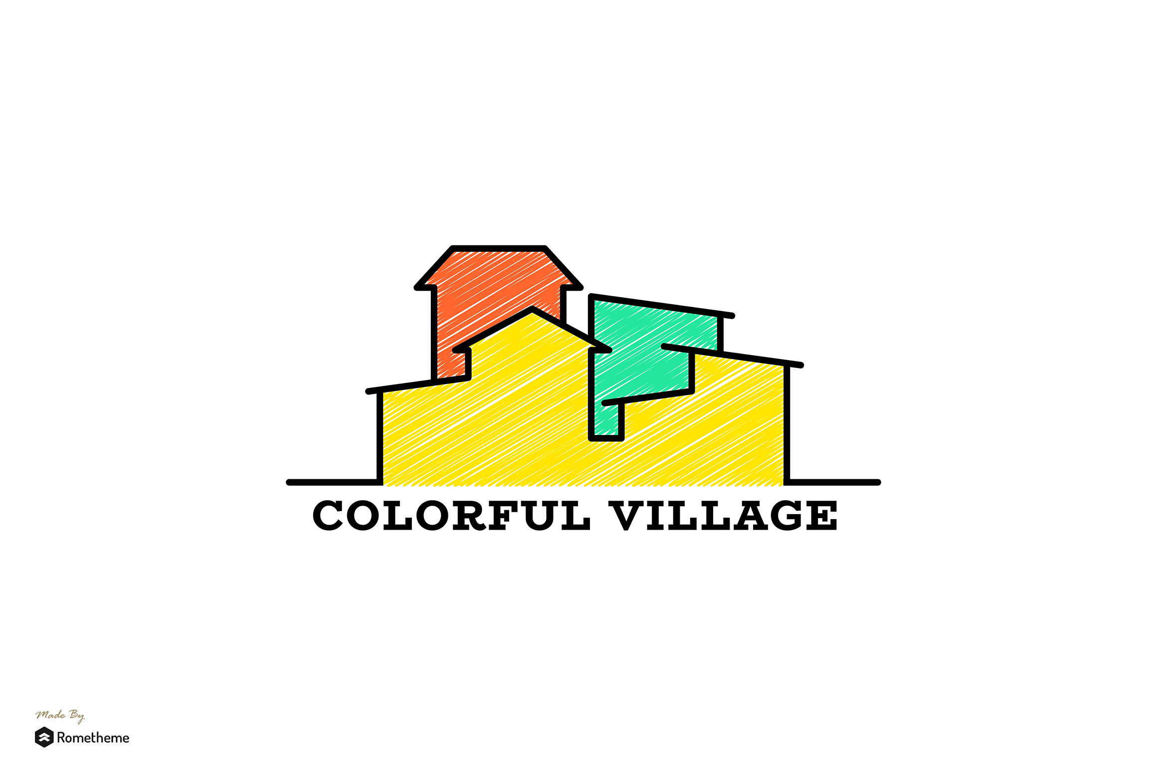 Colorful Village - Logo Template RB example image 1