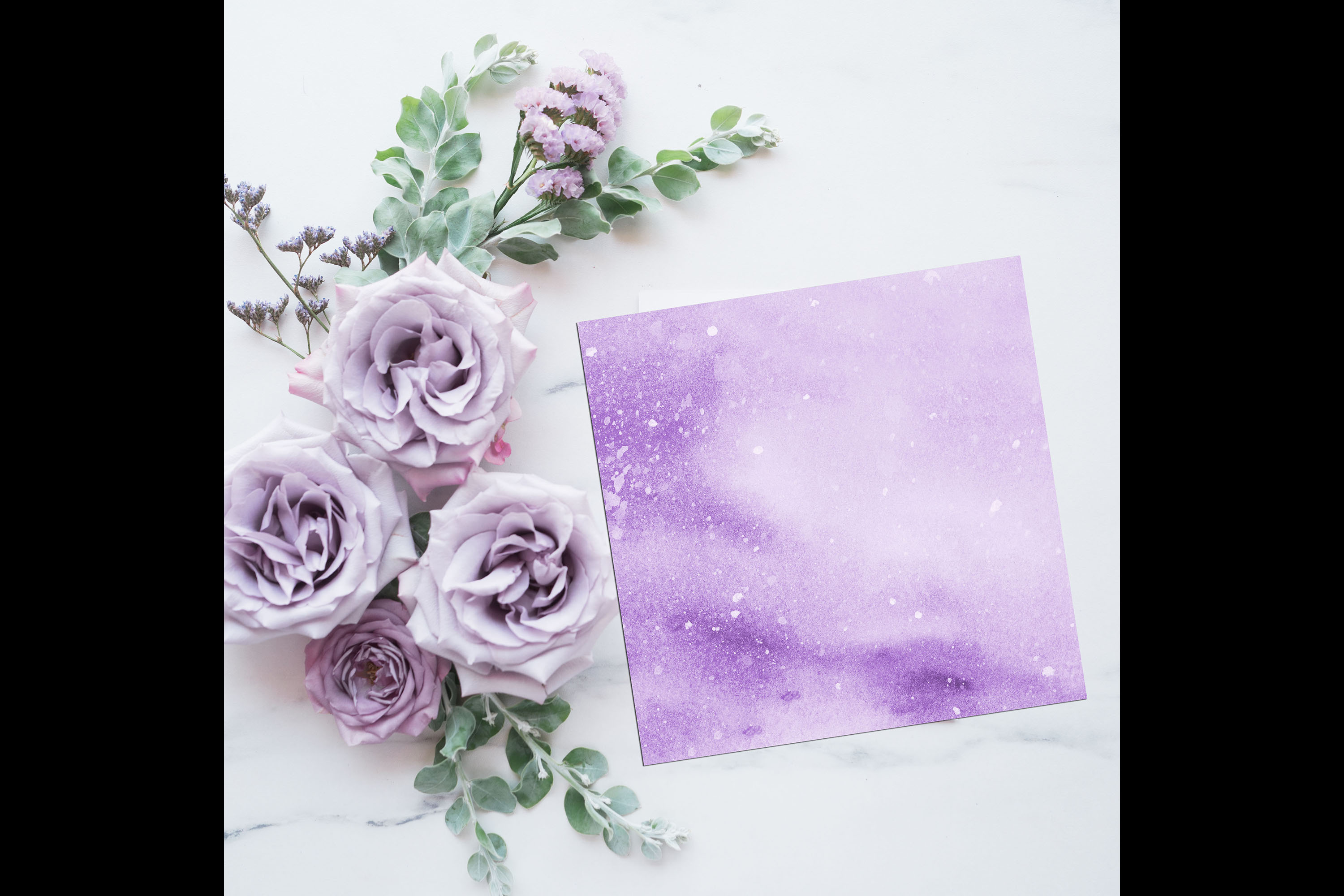 30 Ombre Pastel Lavender Watercolor Painted Digital Papers example image 4
