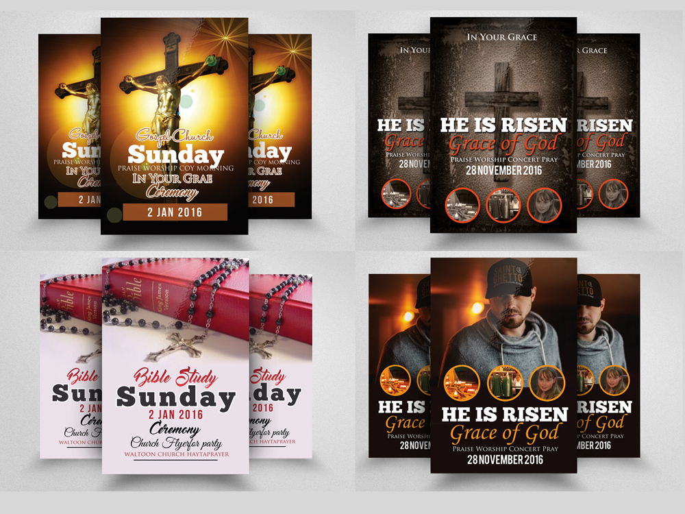 10 Glory and Praise Church Flyer Template Bundle example image 4