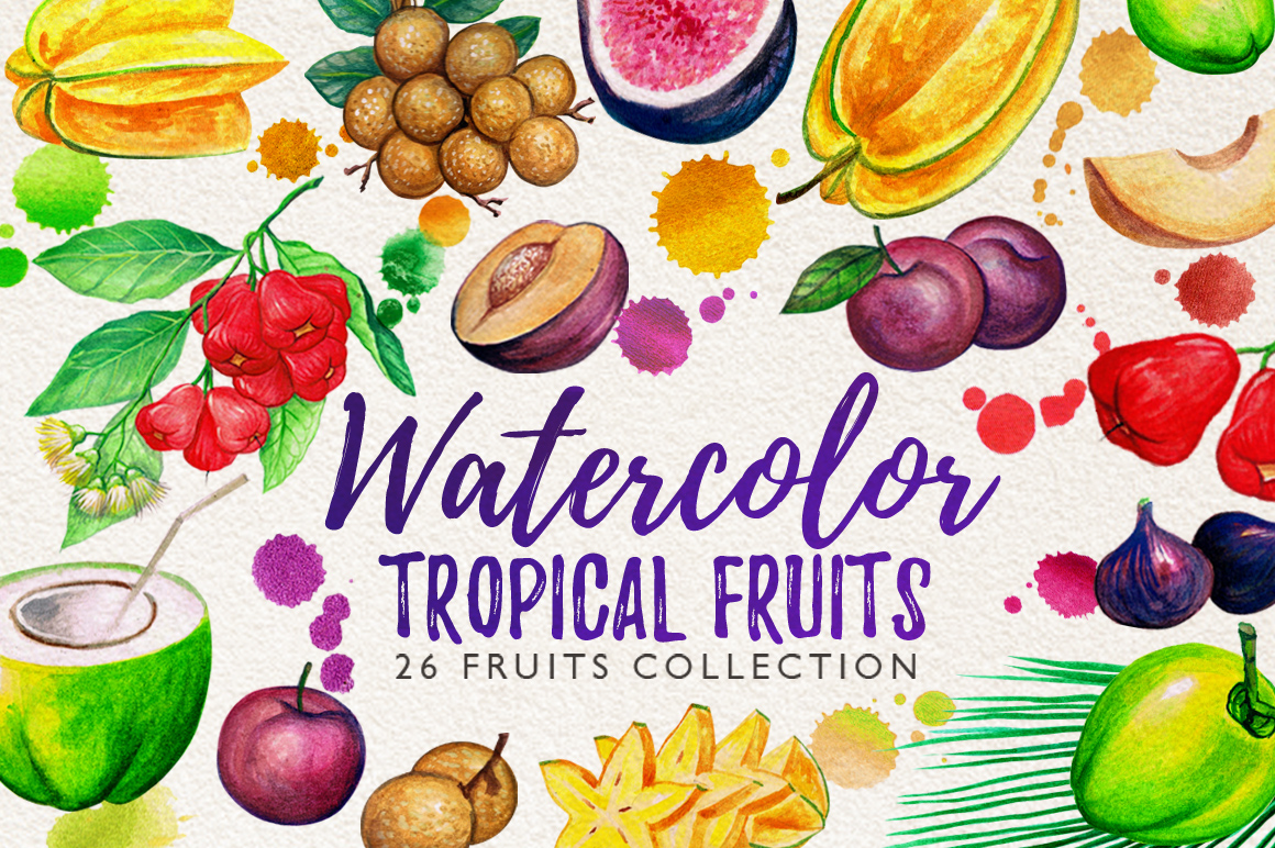 Watercolor Fruits Vol. 5 example image 1