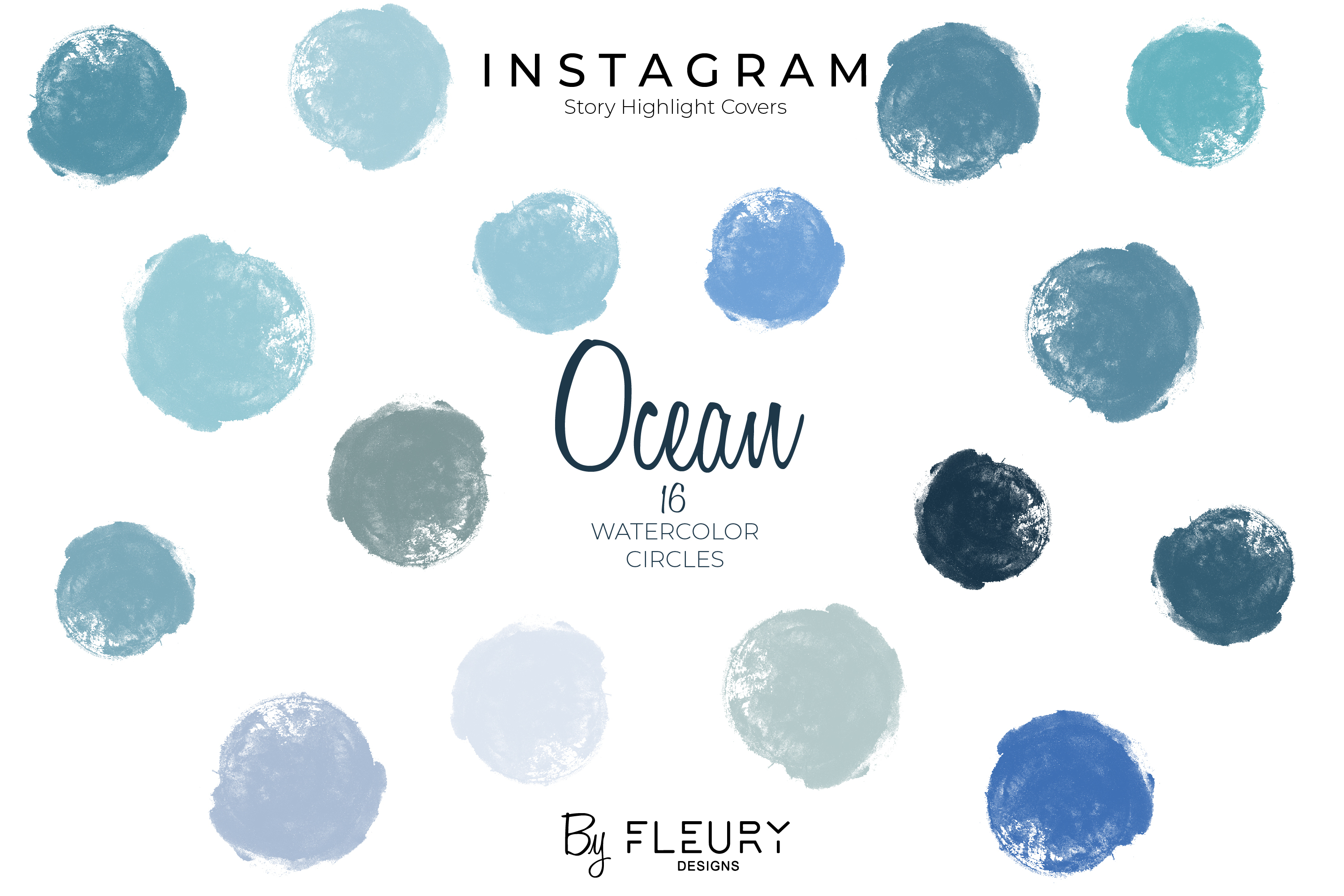 Instagram Stories Highlight Covers - Ocean Blues example image 1