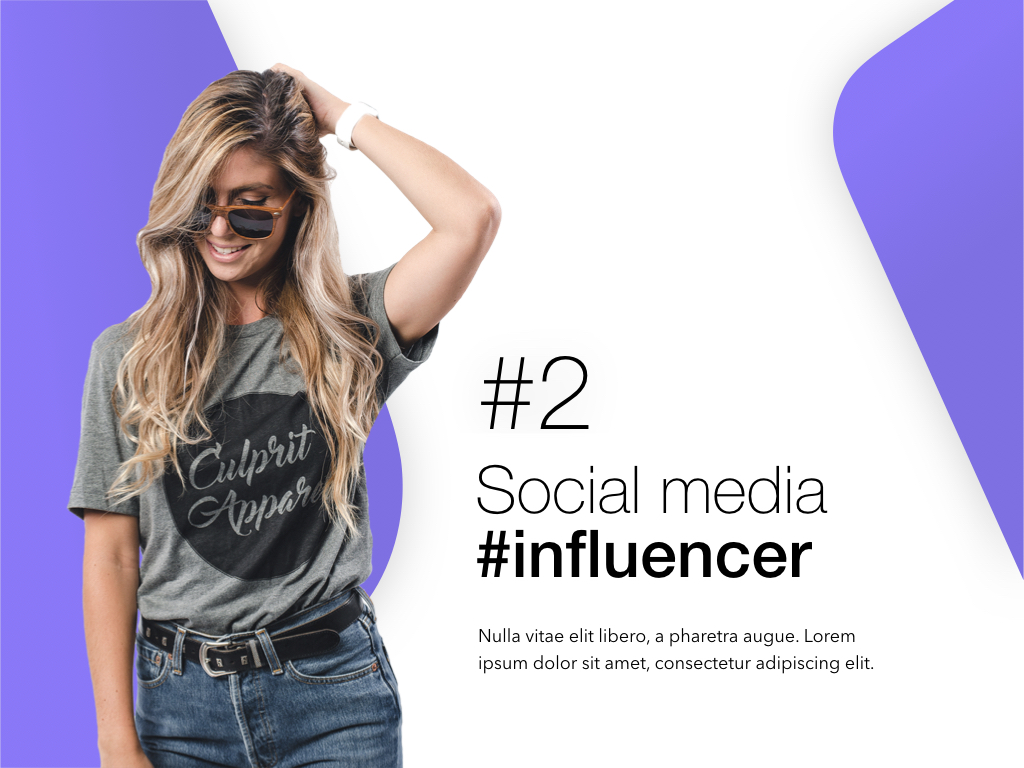 Influencer Marketing Keynote Template example image 3