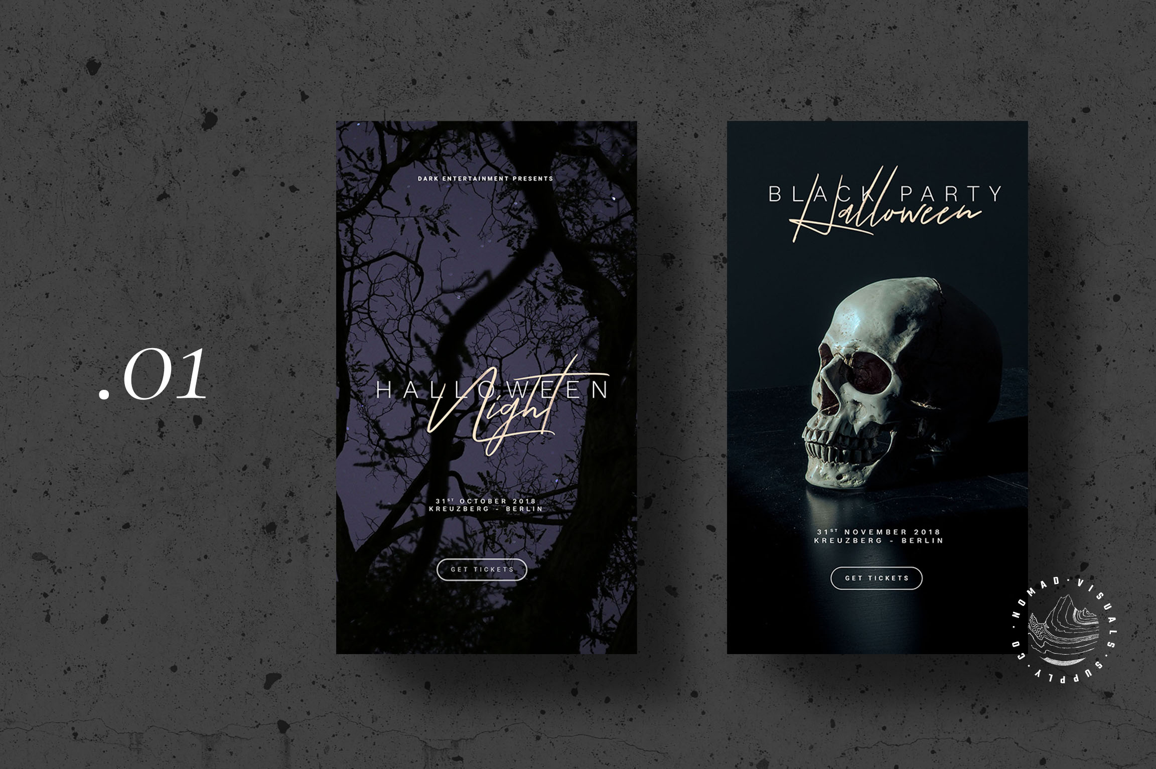 Halloween Animated Instagram Stories Templates - Event Promo example image 3