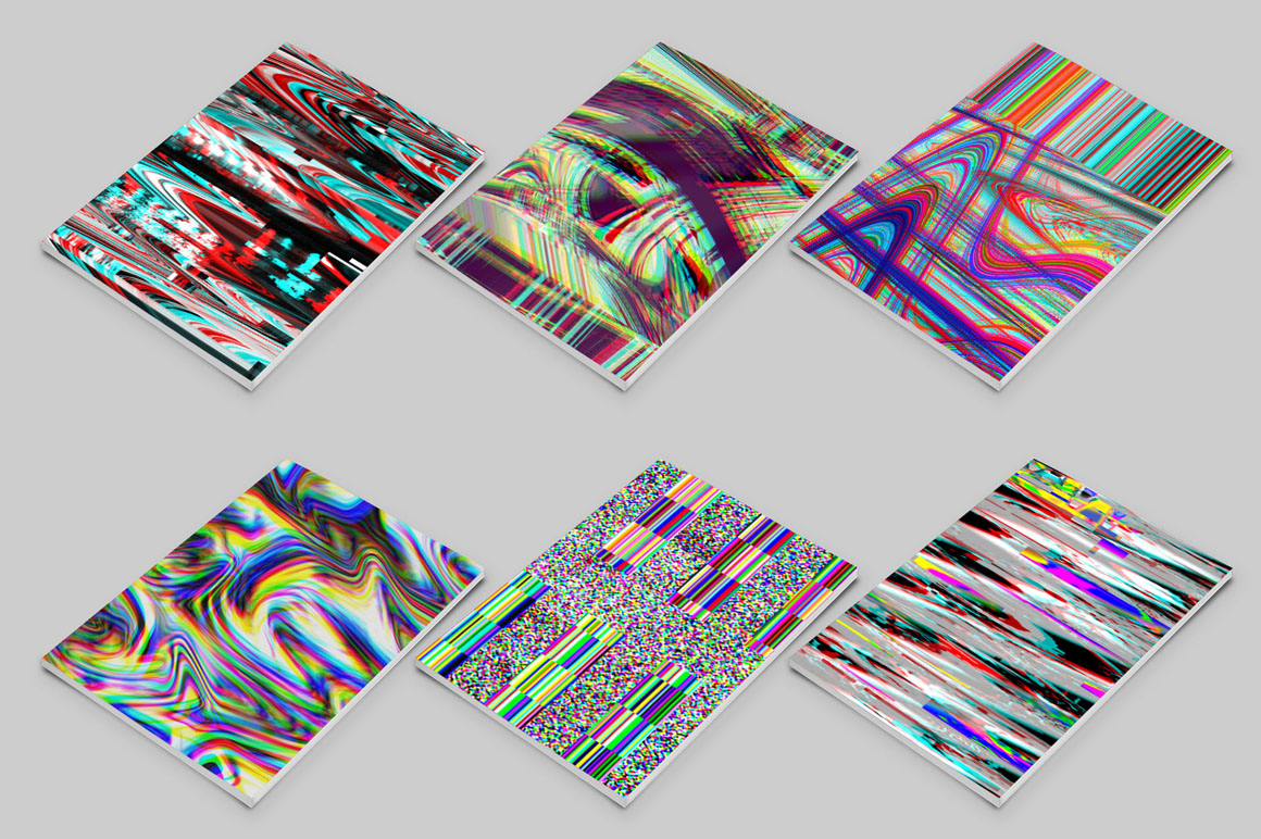 Glitch backgrounds. Screen error example image 2